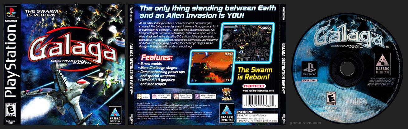 PSX PlayStation Galaga Destination: Earth