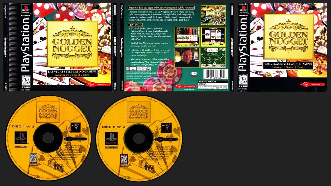 PSX PlayStation Golden Nugget Corrected Version