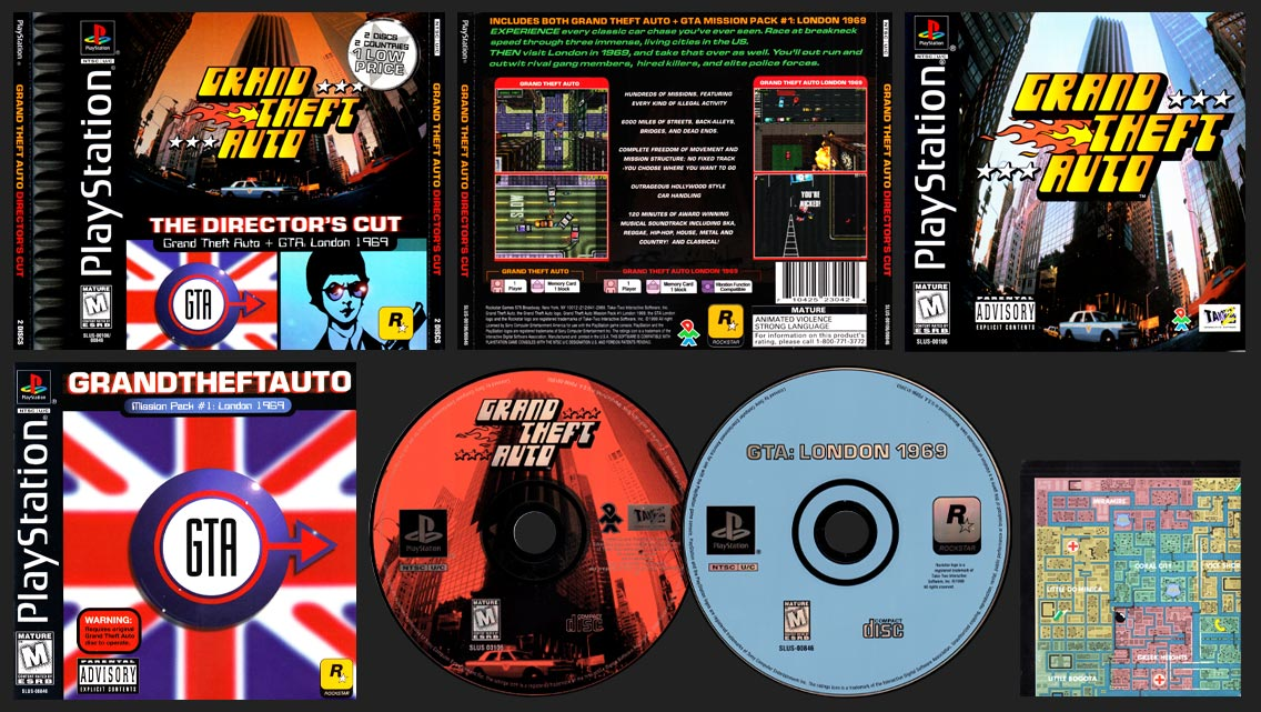 PSX PlayStation Grand Theft Auto Director's Cut