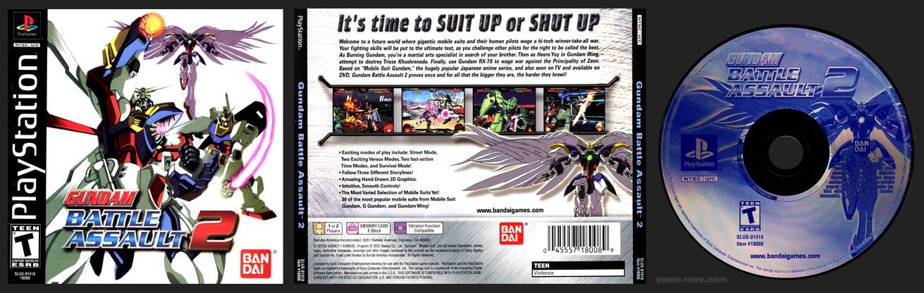 PSX PlayStation Gundam Battle Assault 2 Corrected Version