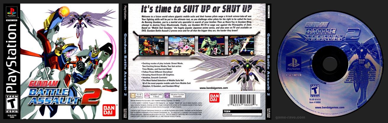 PSX PlayStation Gundam Battle Assault 2 Gundum Typo Release