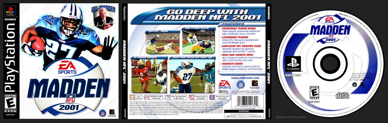 PSX PlayStation Madden NFL 2001