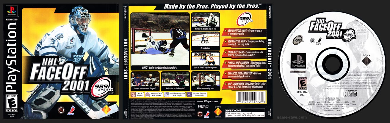 PSX PlayStation NHL Face Off 2001