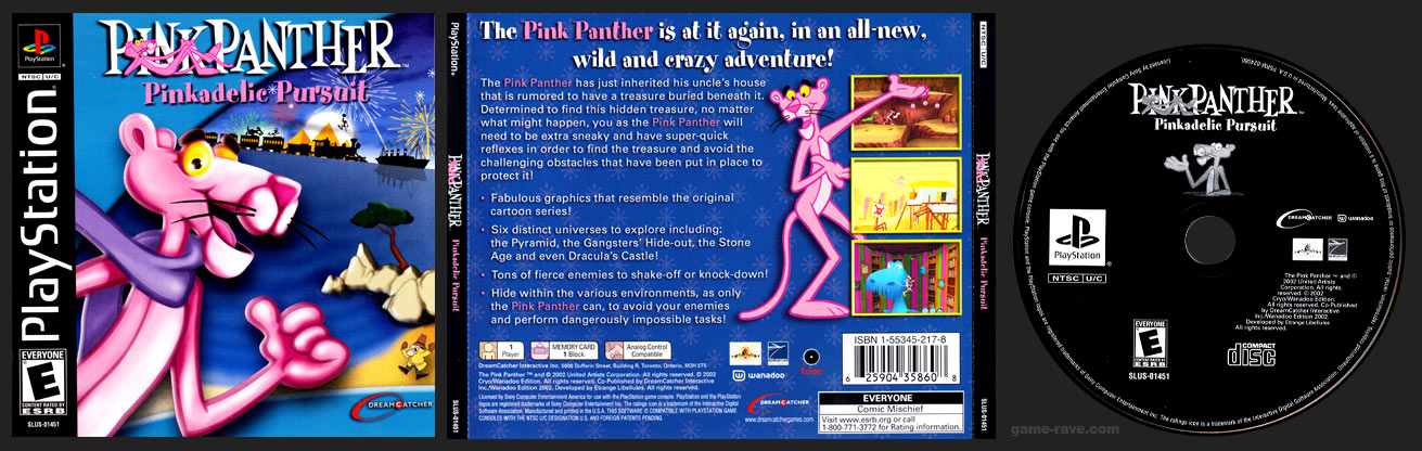 PSX PLayStation Pink Panther Pinkadelic Pursuit