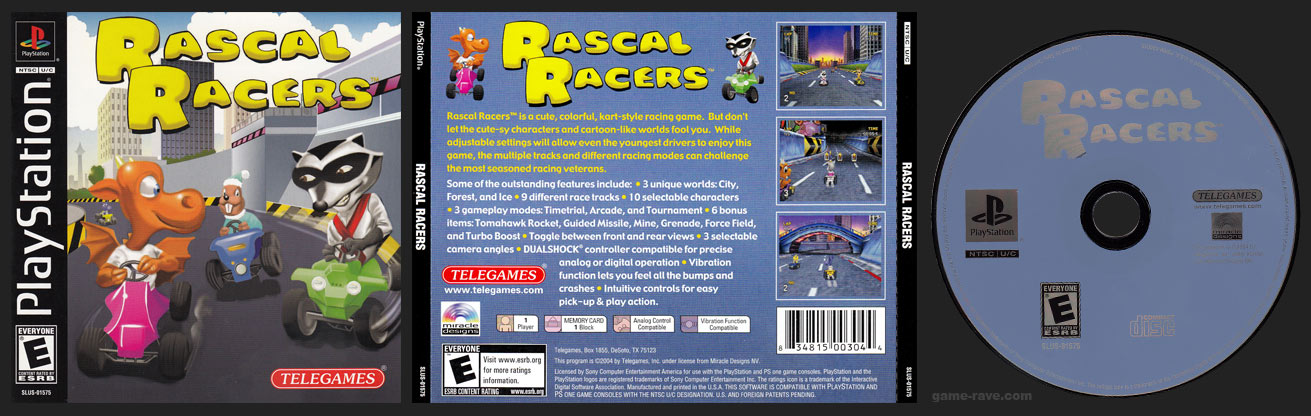 PSX PlayStation Rascal Racers