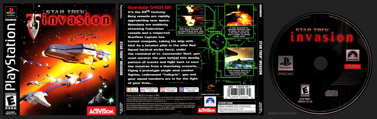 PSX PlayStation Star Trek Invasion Black Label Retail Release