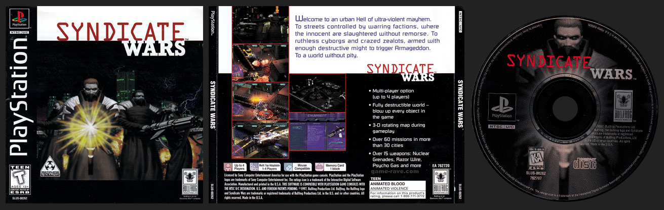 PSX PlayStation Syndicate Wars