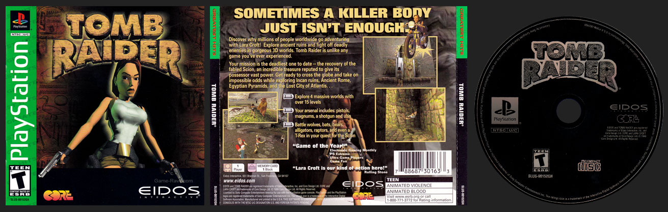 PSX PlayStation Tomb Raider