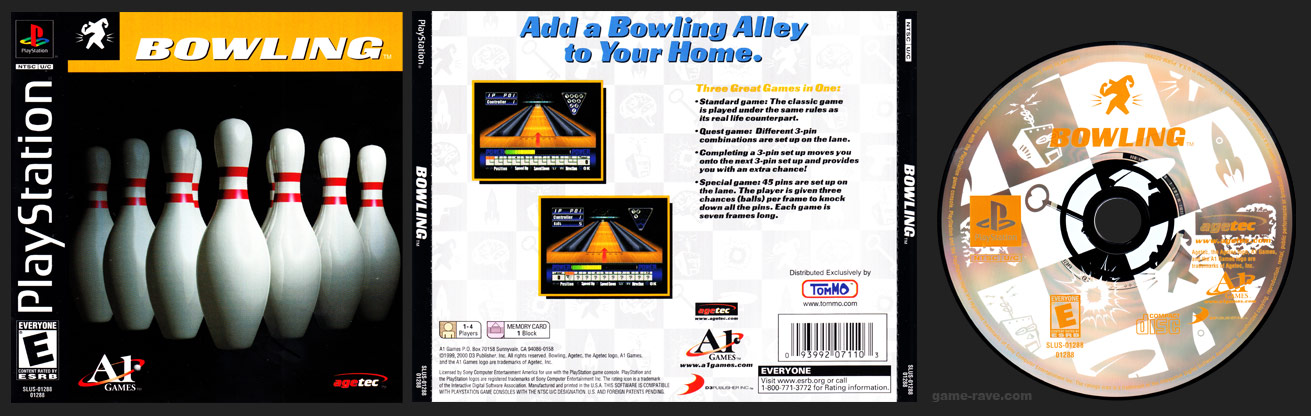 PSX PlayStation Tommo Value Pack 1 Bowling 3 Pack Release