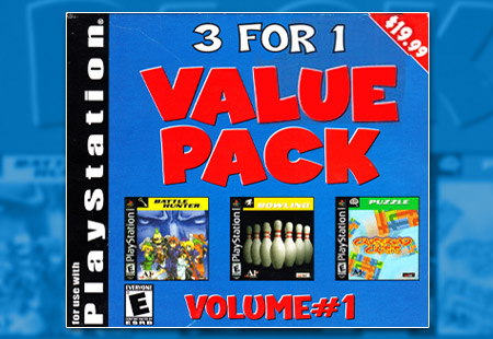 PSX PlayStation Tommo 3 For 1 Value Pack Volume #1