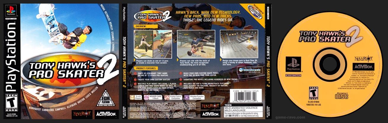 PSX PlayStation Tony Hawk's Pro SKater 2 EGM Silver Variant