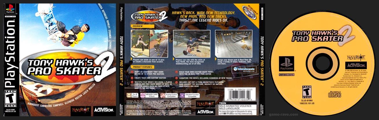PSX PlayStation Tony Hawk's Pro Skater 2 Miscut Black Label Retail Release
