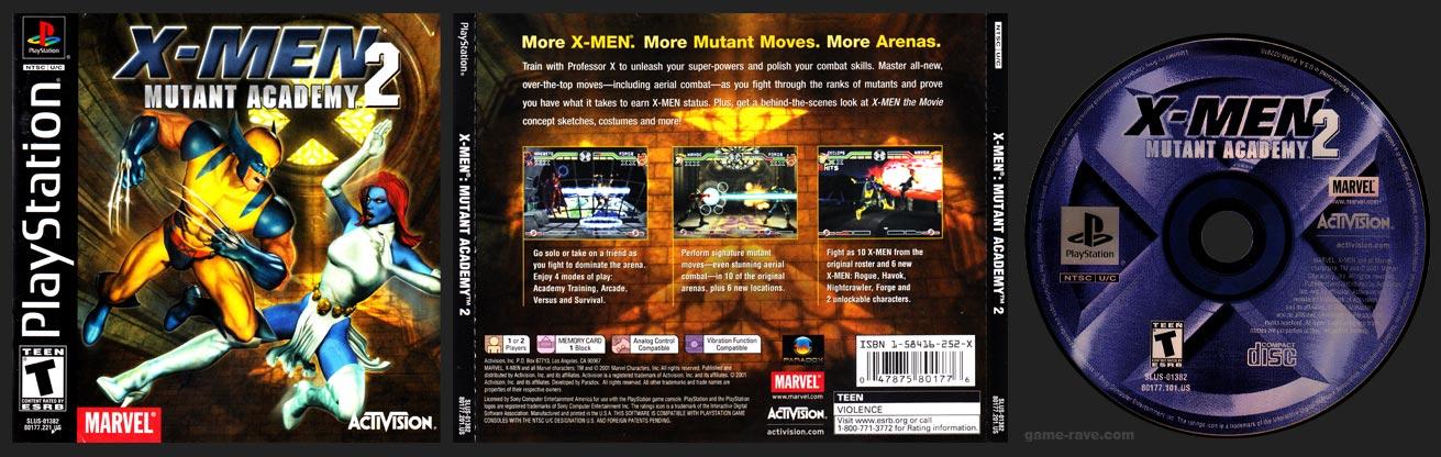 PSX PlayStation X-Men: Mutant Academy 2