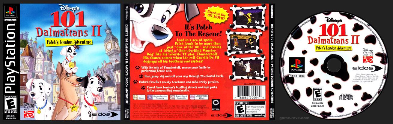 PSX PlayStation 101 Dalmatians II: Patch's London Adventure
