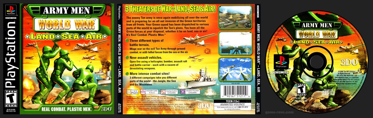 PSX PlayStation Army Men: World War – Land * Sea * Air