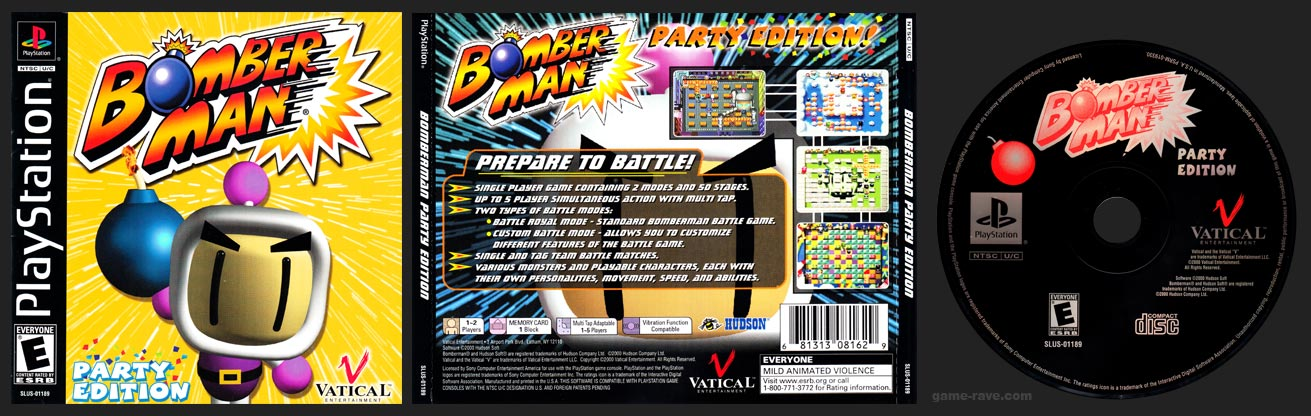 PSX PlayStation Bomberman Party Edition