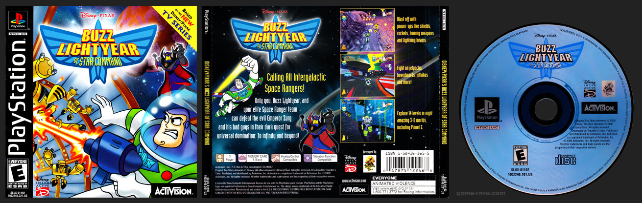 PSX PlayStation Disney / Pixar's Buzz Lightyear of Star Command Black Label Retail Release