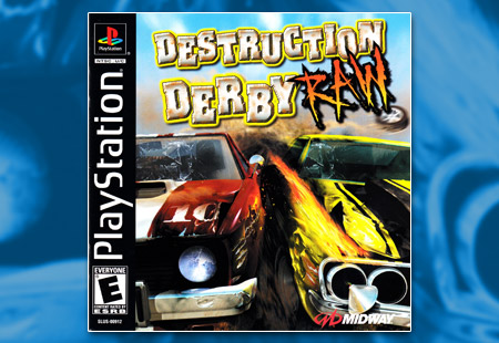 PSX PlayStation Destruction Derby Raw