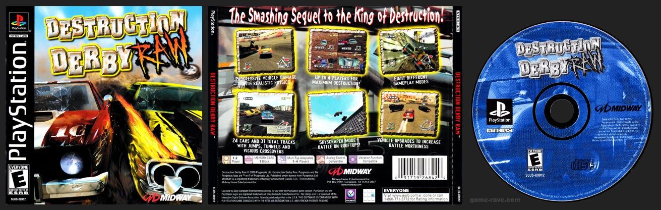 PSX PlayStation Destruction Derby Raw