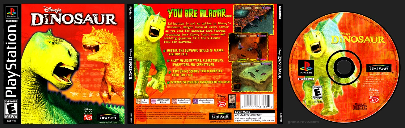 PSX PlayStation Disney's Dinosaur