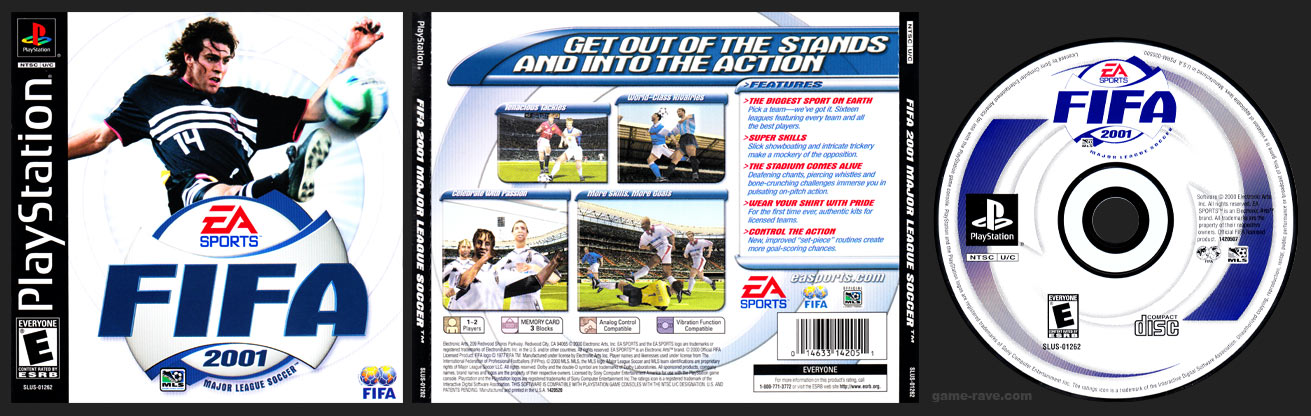 PSX PlayStation FIFA 2001