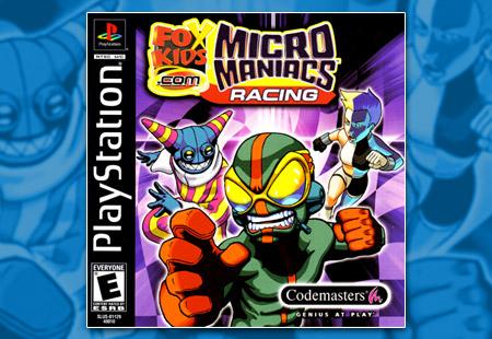PSX PlayStation FoxKids.com Micro Maniacs Racing