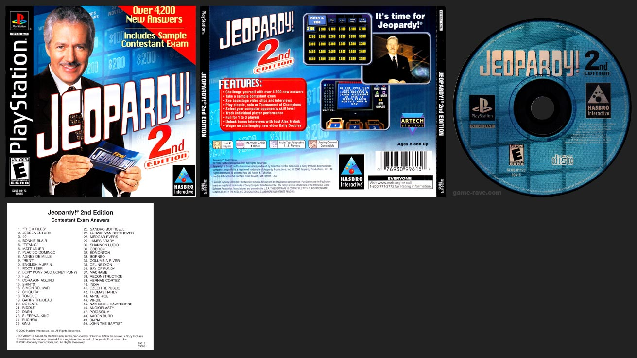 PSX PlayStation Jeopardy! 2nd Edition