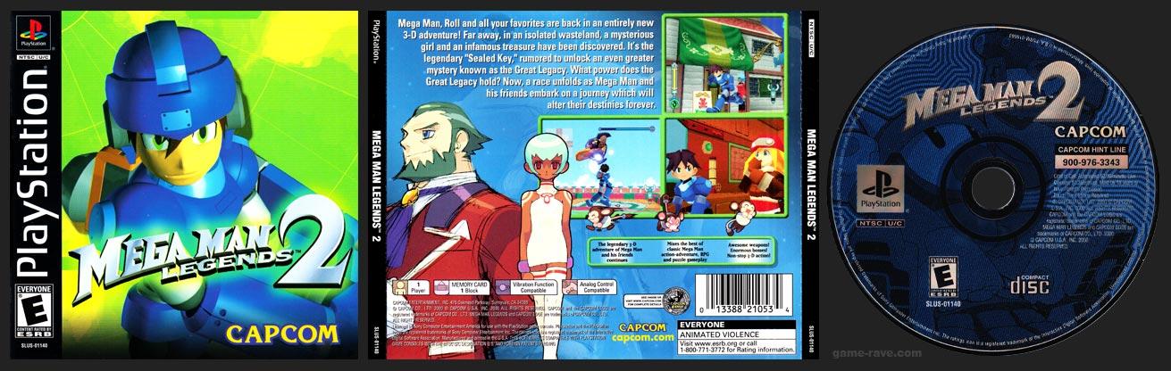 PSX PlayStation Mega Man Legends 2 Black Label Retail Release