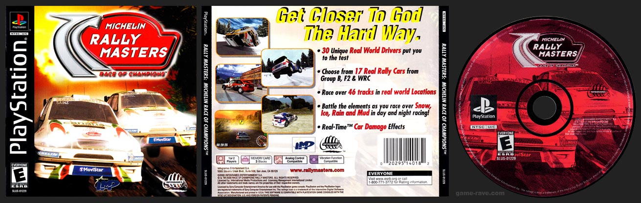PSX PlayStation Michelin Rally Masters: Race of Champions Black Label Retail Release