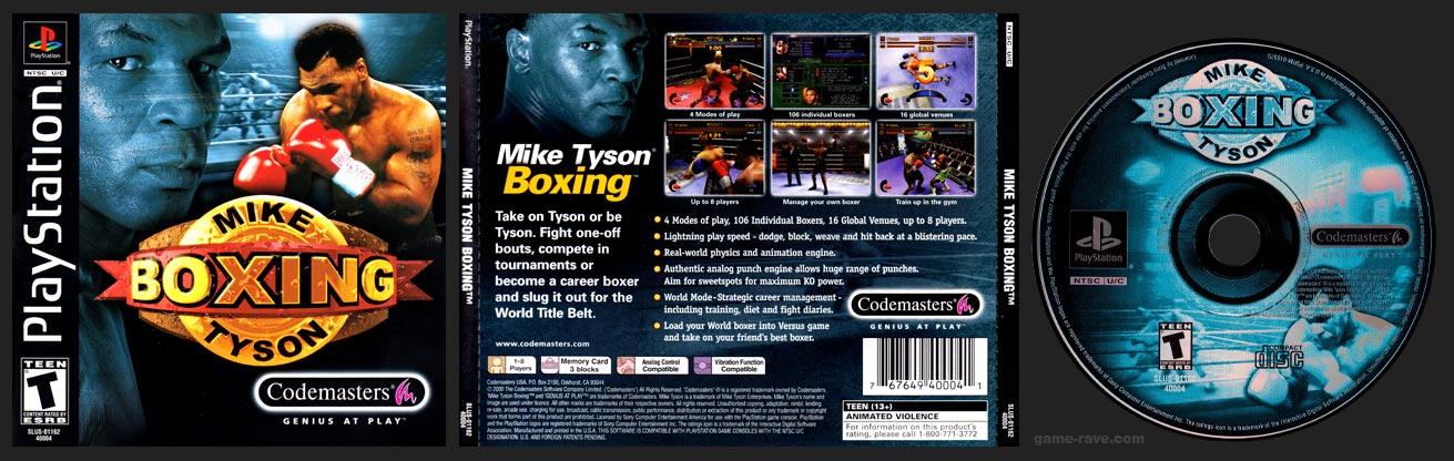 PSX PlayStation Mike Tyson Boxing