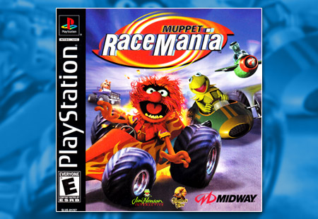 PSX PlayStation Muppet Race Mania