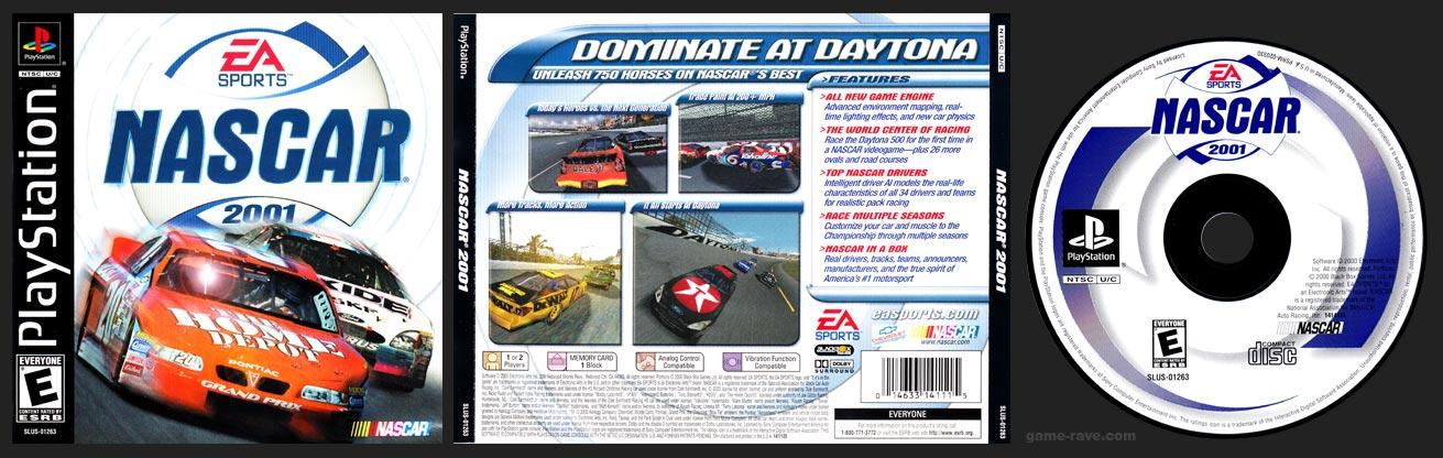 PSX PlayStation NASCAR 2001