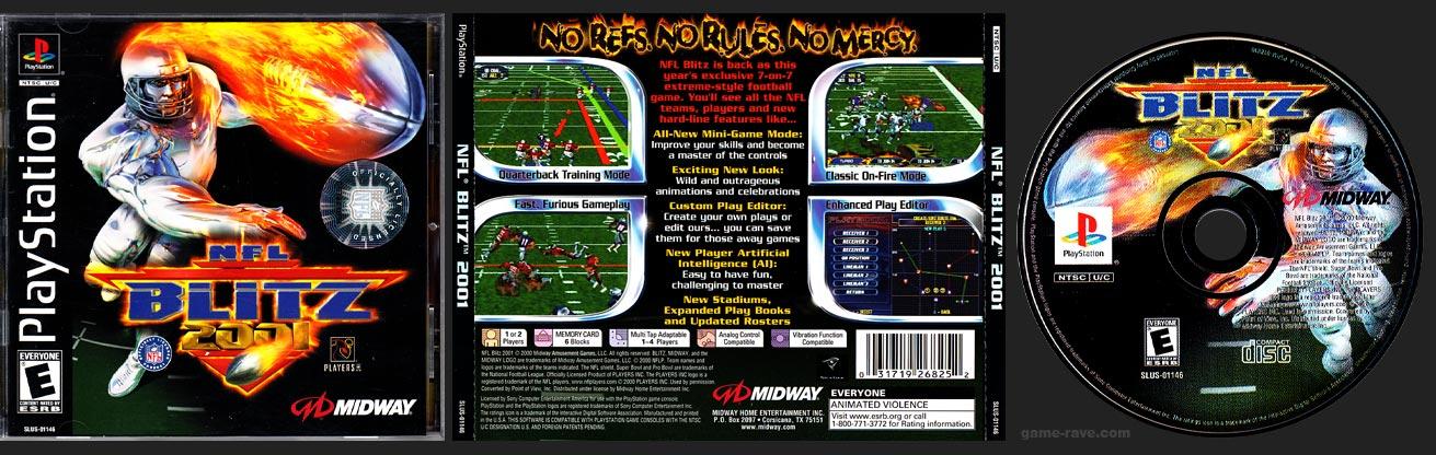 PSX PlayStation NFL Blitz 2001 Round NFL Hologram Sticker Variant