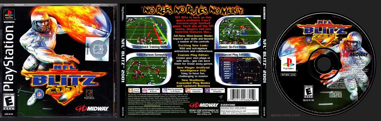 PSX PlayStation NFL Blitz 2000 Square NFL Hologram Variant