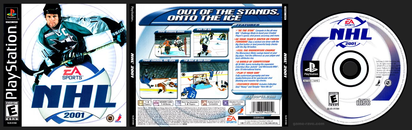 PSX PlayStation NHL 2001
