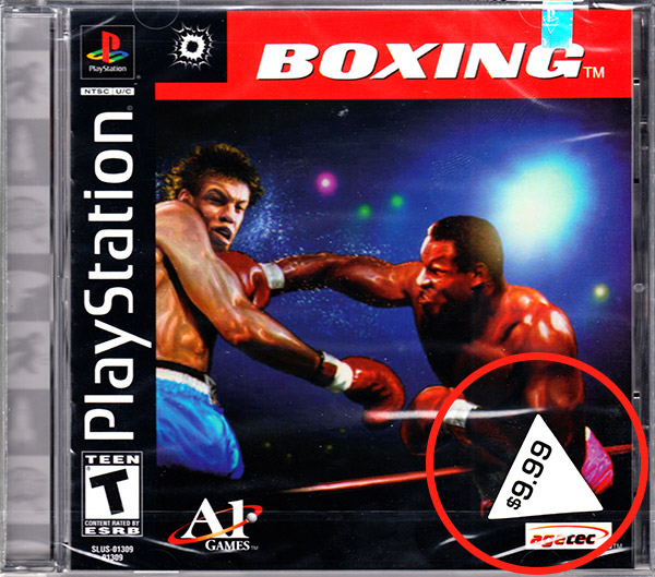PSX PlayStation Tommo 3 for 1 Value Pack Volume #4 Boxing sticker