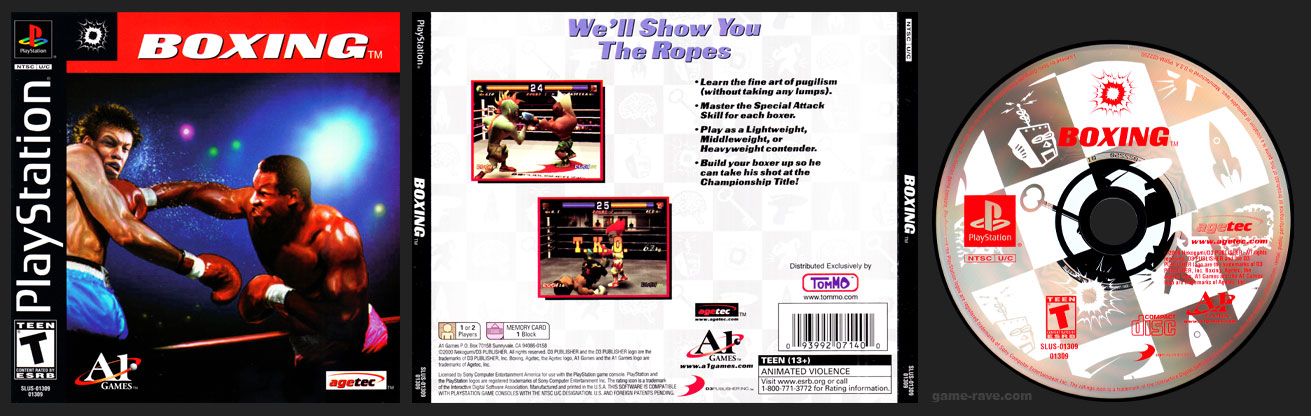 PSX PlayStation Tommo 3 For 1 Value Pack Volume #4 Boxing