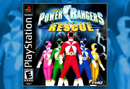 PSX PlayStation Power Rangers Lightspeed Rescue