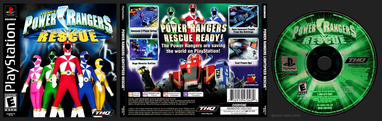 PSX PlayStation Power Rangers Lightspeed Rescue