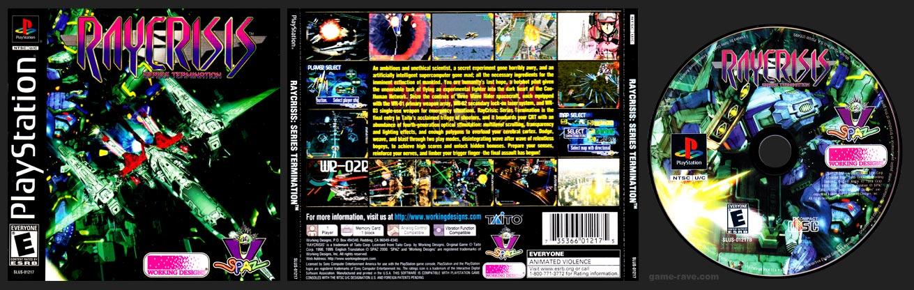 PSX PlayStation RayCrisis: Series Termination Variant B