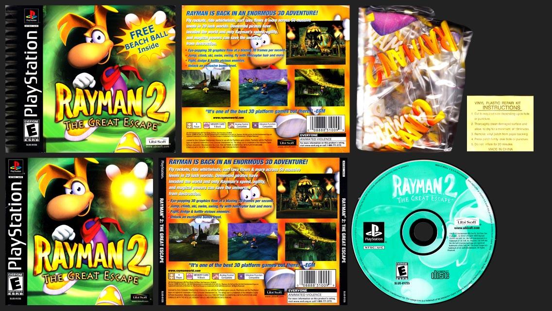 PSX PlayStation Rayman 2 Beach Ball Variant Edition