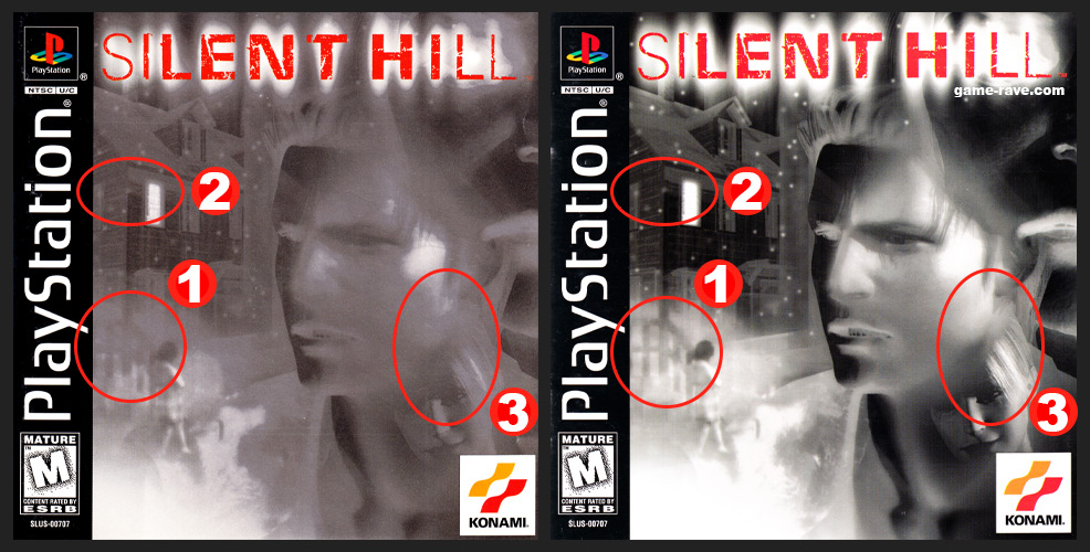 PSX PlayStation Silent Hill Manual Differences in Variant