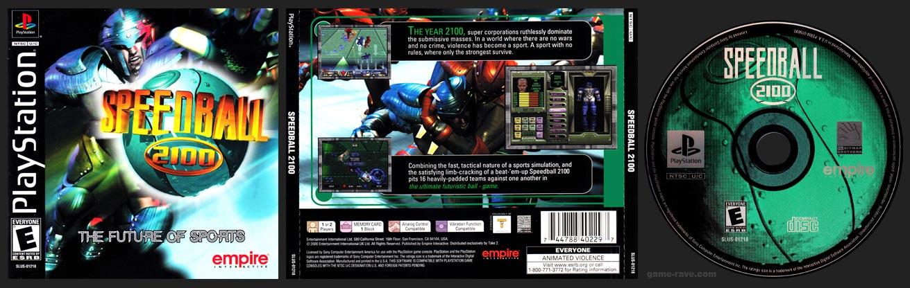 PSX PlayStation Speedball 2100