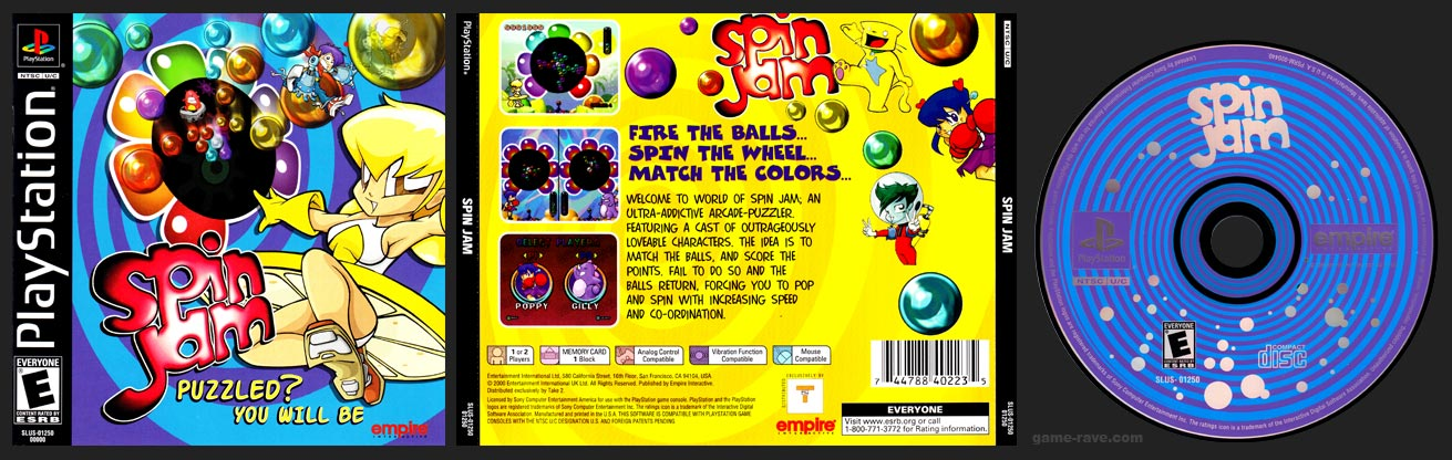 PSX PlayStation Spin Jam