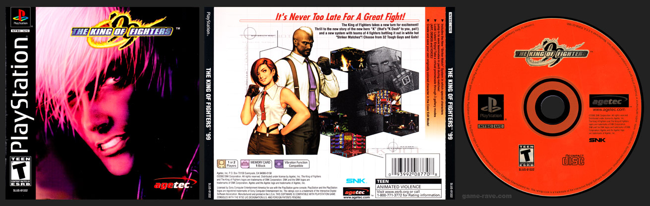 PSX PlayStation King of Fighters '99 Black Label Retail Release