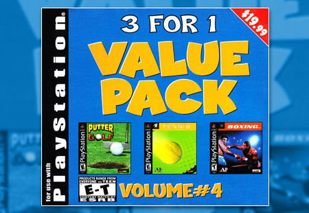 PSX PlayStation Tommo 3 For 1 Value Pack Volume #4