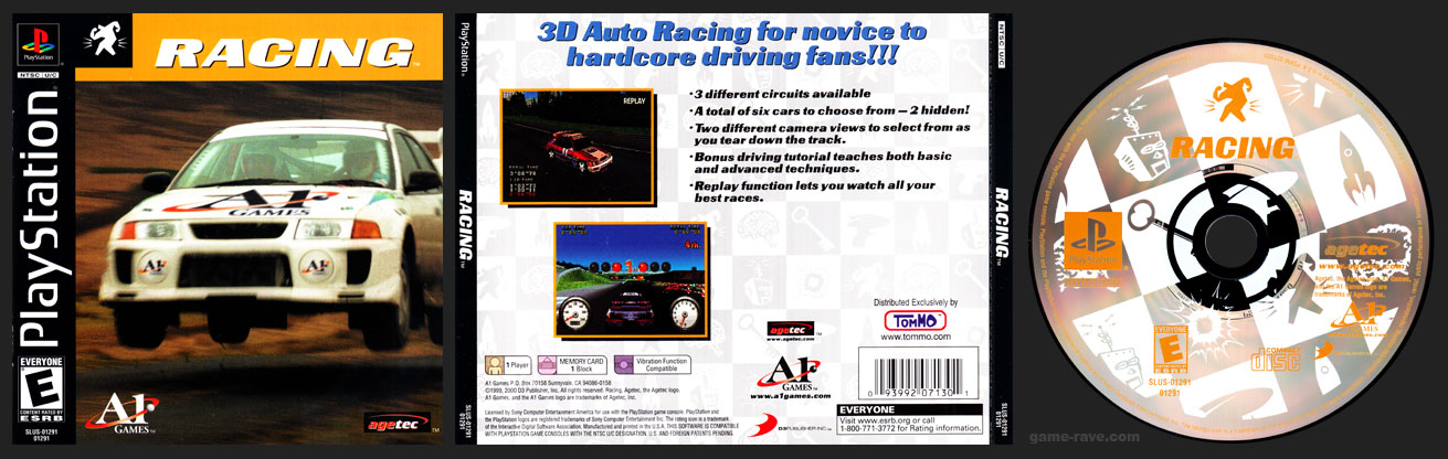 PSX PlayStation Tommo 3 For 1 Value Pack Volume #5 Racing