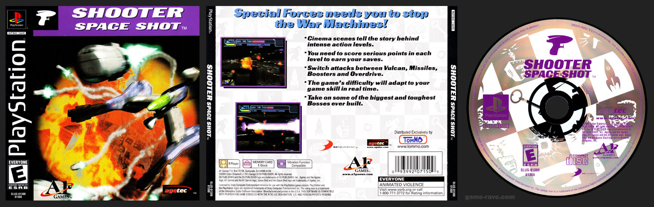 PSX PlayStation Shooter Space Shot