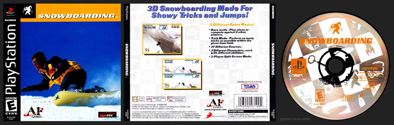 PSX PlayStation Snowboarding 3-Pack Version
