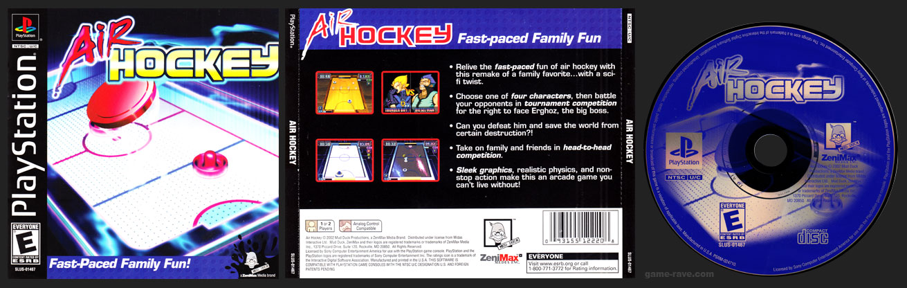 PSX PlayStation Air Hockey Retail Release